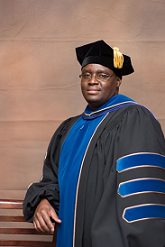 Dr. Kaluya moments after hooding