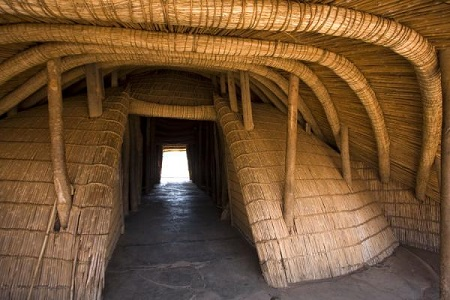Interior view of the Kasubi Royal Tombs